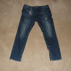Junarose Five Blue Slim Destroy Jeans Size 22 Plus